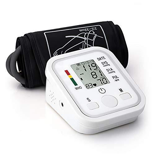 LBWLB Oberarm-Blutdruckmessgerät, tragbares digitales automatisches Blutdruckmessgerät mit Sprachausgabe, großes LED-Display und großer Schutzhülle, 2x99 Dual-User-Modus (wiederverwendbar)