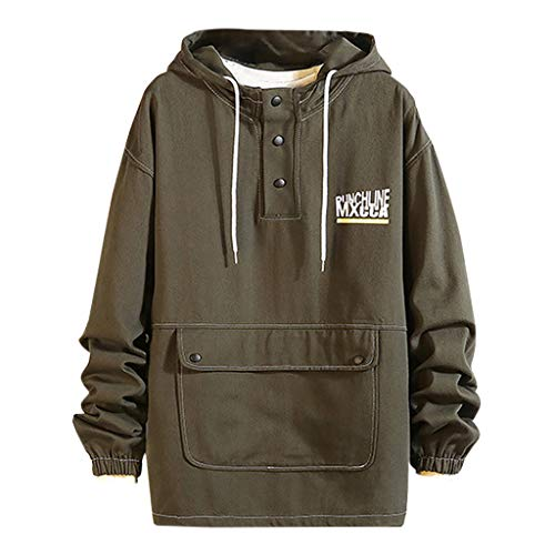 🌟Committede🌟Herren Basic Sweat Hoodie Pullover mit Kapuze Kapuzenpullover Sweatshirt Langarm Kapuzenpulli Oberteil Baumwollmischung Sport Style Casual Alltag Modellauswahl