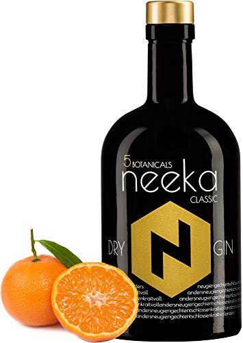 neekaCLASSIC | Mandarinen-Gin | 0.5 L | Premium Dry Gin & Handcrafted in the Black Forest – Germany | 100% Gin Geschmack