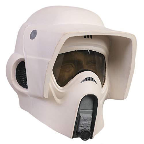 Chiefstore Casco Scout Trooper Stormtrooper Máscara de látex SW Cosplay mercancía para hombres adultos Accesorios de disfraces