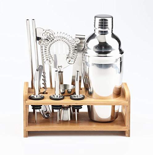 EasyLifeStore 12-teiliges Cocktail-Shaker-Set Barkeeper-Kit mit Ständer - 550 ml professionelles Edelstahl-Bar-Werkzeugset zum Mixen von Getränken, bestes Home-Cocktail-Werkzeug Shaker-Set