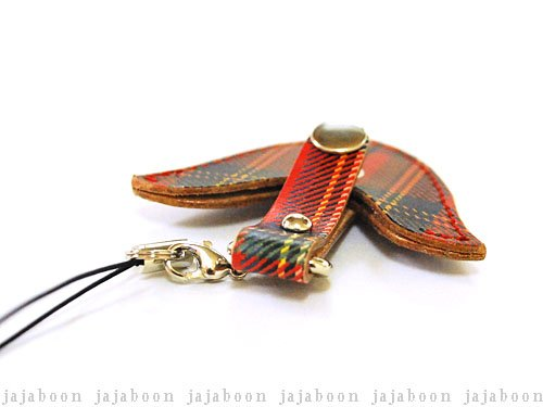 JAJABOON『ギターピック携帯ストラップROYALタータンチェック(47303)』