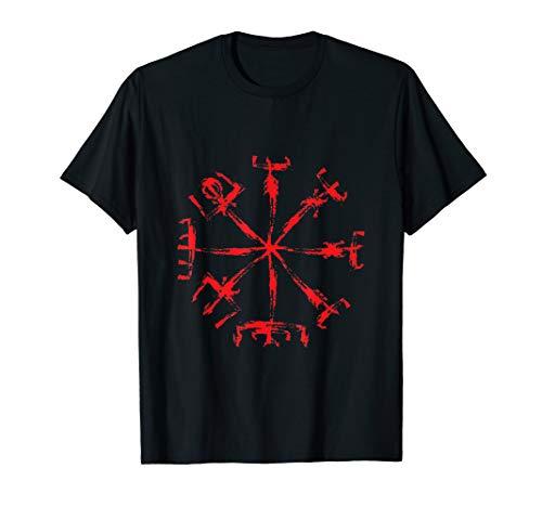 Vegvisir Wikinger Schutz Symbol der nordischen Mythologie T-Shirt