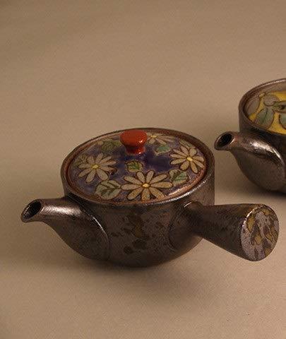 Imari - Tetera Japonesa de cerámica con diseño de Hojas Verdes y Flores, 170 ml