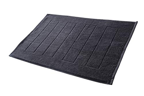 Hometex Premium Textiles Badvorleger Duschvorleger 50 x 70 cm | 100% Baumwolle - ÖKOTEX 100 - Anthrazit