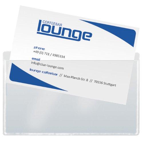 SIGEL VZ115 Visitenkarten-Taschen, 100 Stück, selbstklebend, max. 90x55 mm