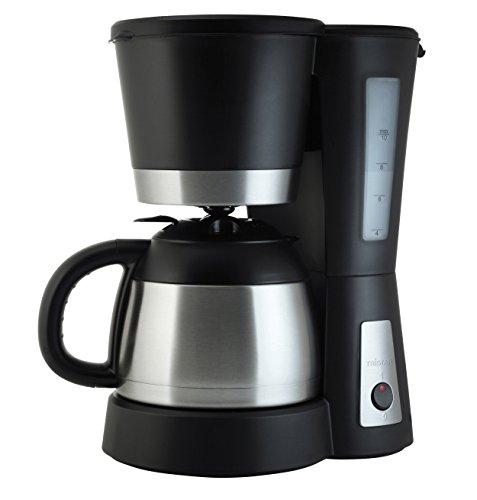 Tristar CM-1234 Cafetera Acero Inoxidable y Capacidad para 1 litro, para hasta 10 Tazas de café, 800 W, Filtro extraíble, Elemento antigoteo, Jarra de 1 l