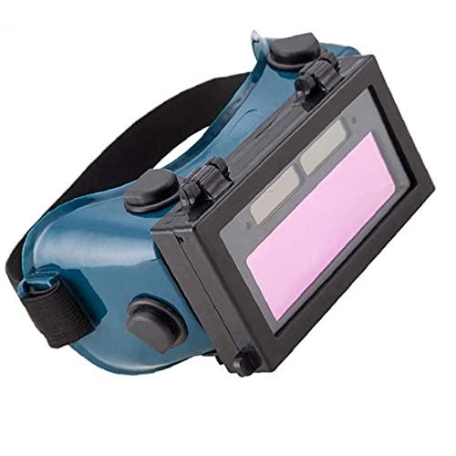 Sanfiyya Soldadura Gafas Automóviles Autón Solar Powered LCD Soldador Eye Protección de Ojos Equipo Equipo Instalación Hardware