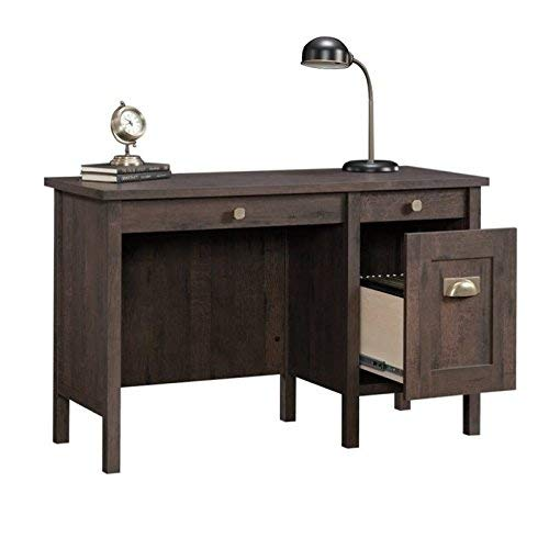 Sauder New Grange Desk, Coffee Oak finish