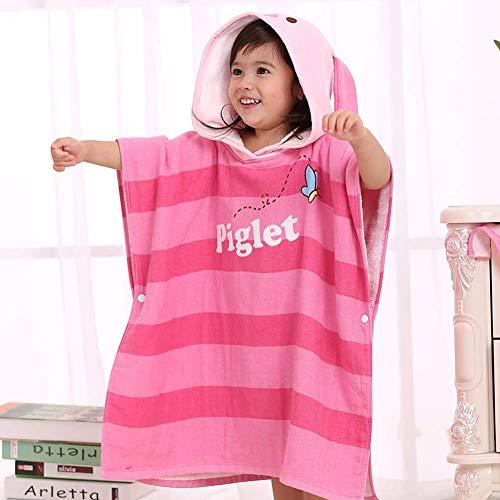 Babybadhanddoeken en capuchonhanddoeken, badhanddoek met capuchon voor kinderen, katoenen jas, baby-katoenen badjas, cartoon, douchehanddoeken 60 x 120 cm C.