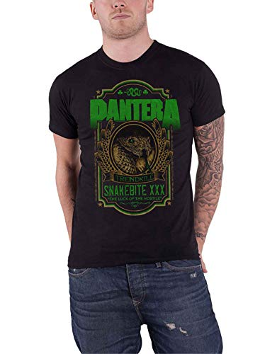PANTERA T Shirt Snakebite XXX Label Trendkill Band Logo Nue offiziell Herren