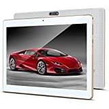 "10.1"" Inch Android Tablet PC, 3G Unlocked Phablet 4GB RAM 64GB Storage with Dual sim Card Slots and Cameras,Tablet PC with WiFi,Bluetooth,GPS(White)"