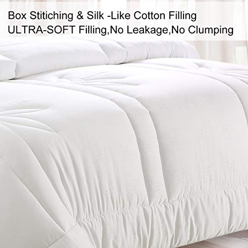 COHOME King Down Alternative Comforter Duvet Insert Corner Ties,Fluffy Lightweight Cooling All Season Soft Reversible Hotel Collection (White Bamboo Fiber)