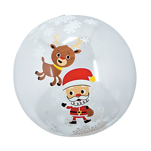Fun Express Snow Globe Beach Balls (Set of 12) Christmas Toys
