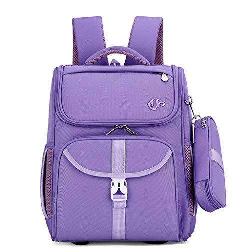 Zaini per la scuola Set di zaini Ragazzi Ragazze adolescenti 6-12 anni 1-3 classe Studenti della scuola primaria/secondaria impermeabili di grande capacità Borsa da viaggio per (purple,DL)