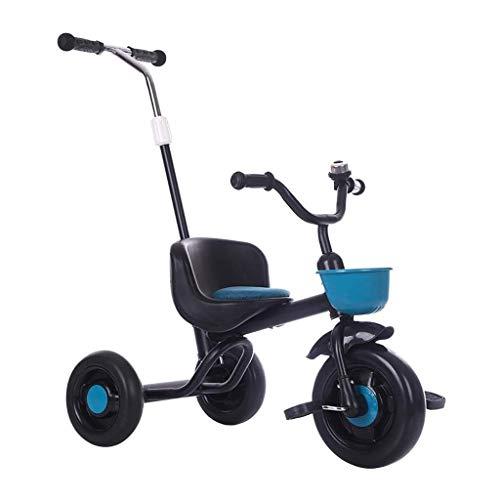 Triciclo Per Bambini Trike Triciclo, EVA libero gonfiabile della rotella multifunzione for bambini triciclo Con La Mano Putter, 1-6 bambino di anni all'aperto Triciclo, 3 colori, 54x70x44cm (colore: r