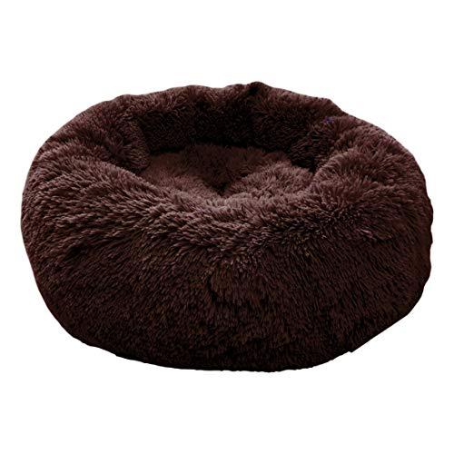 Exklusives weiches und kuscheliges Hundebett FUZZY Haustierbett Katzensofa Hundehöhle Katzenbett für kleine, mittelgroße Haustiere Doughnut-Form Katzenliege Katzenkissen Welpenbett Handmade in der EU