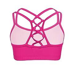 Zaldita Big Girls Racer Back Padded Puberty Bra Sports//Dance//Gymnastics Crop Top Athletic Underwear
