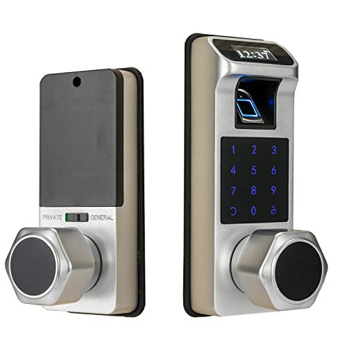 Harfo K1 Smart Door Lock Fingerprint Door Lock, Electronic Door Lock with Keypad and Key with OLED Display Screen,Touchscreen Keypad,Auto Lock,Ease to Install for Home and Office