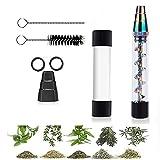 Glass Blunt Pipe Kit, Cristal, dureza para Seca Hierbas, con Cepillo de Limpieza Accesorios- rainbow
