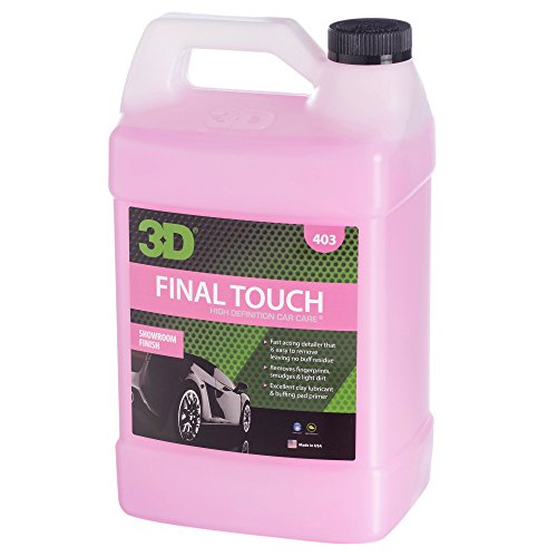 3D Final Touch Waterless Car Wash with Wax Protection | Quick Auto Detail | Dry Wash & Express Wax | Works on Paint, Glass & Chrome (Gallon)