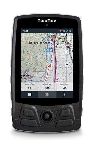 TwoNav - Aventura - GPS Trekking per Escursionismo in Montagna con Mappe | Localizzatore e GPS con Avvisi di Emergenza, Schermo da 3.7 , Colore Arancione