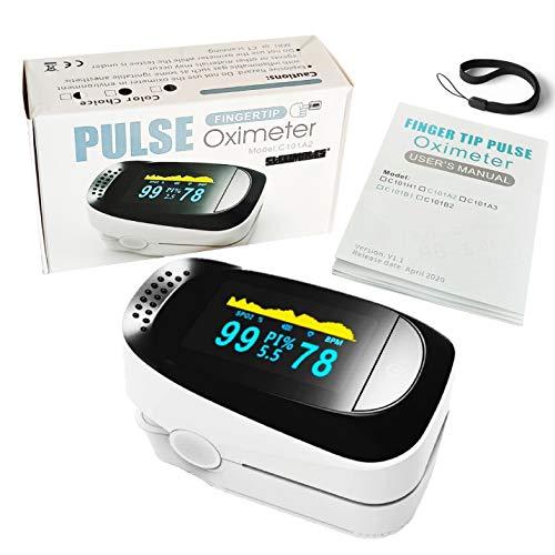 STEELMATES Pulse Oximeter Saturimetro Da Dito Professionale Certificato Italiano Pulsossimetro Misuratore Ossigeno...
