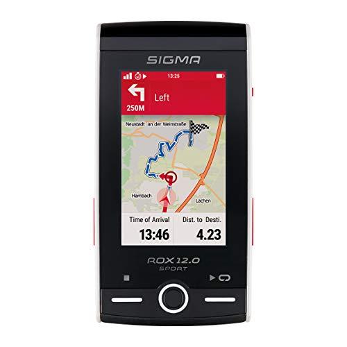 SIGMA SPORT ROX 12.0, GPS Fahrradcomputer mit Kartennavigation und Farbdisplay, Weiß
