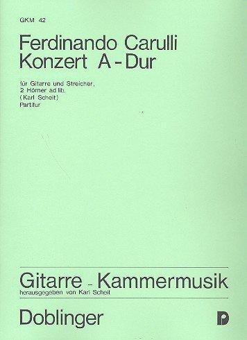 Concerto A-Dur voor gitaar, viool, violoncelo, hoorn, contrabas