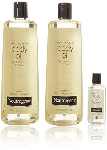 Neutrogena Body Oil Light Sesame Formula Sesame Oil, 16 fl. oz/pack -...