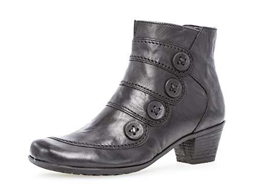 Gabor Damen Ankle Boots 34.691, Frauen Stiefelette,Stiefel,Halbstiefel,Bootie,knöchelhoch,Reißverschluss,schwarz,40 EU / 6.5 UK