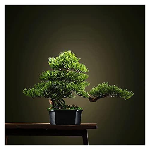 jinyi2016SHOP Artificial Bonsai Tree Artificial Bonsai Pine Tree, 16 Inch Faux Potted Plant,Fake Tree Pot Ornaments Cedar Bonsai Plant for Living Rooms, Tea Rooms Fake Bonsai Decor