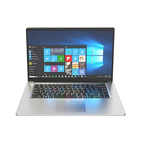 Ordenador portátil de 15,6 pulgadas, sistema operativo Windows 10 Pro, Intel Celeron N350-CPU, 4 GB de RAM, 64 GB SSD, Full HD 1920 x 1080, fino y ligero