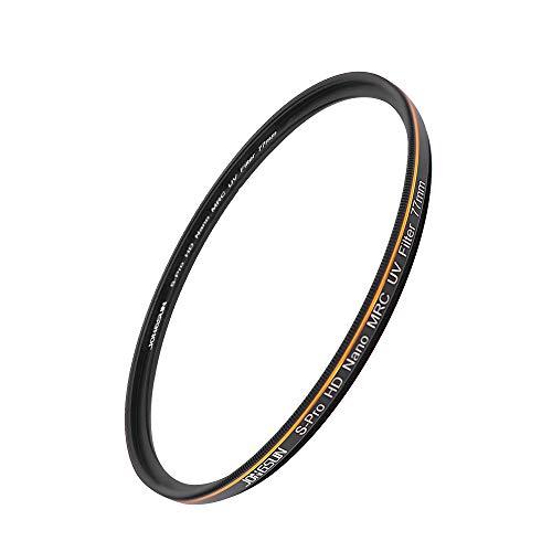 JongSun S-Pro HD Nano MRC Filtro UV 77mm, 16-Capas Multicapa Recubrimiento, Schott B270, Cámara Protección Ultravioleta Filtro