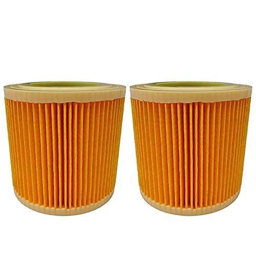 Limpiador de limpieza para el hogar 2 filtros de aire de repuesto para aspiradora Karcher WD2250 WD3.200 MV2 MV3 WD3 WD3 Cartucho de filtro HEPA (color: 2 piezas)