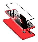 Joytag compatibles para Funda Samsung A40 Carcasa +Protectora de película de Vidrio Templado 360...