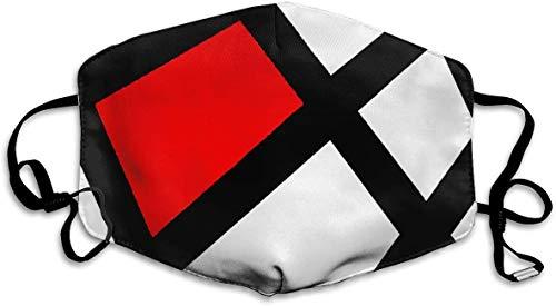 Frauen Männer Jungen Mädchen Staubdichte rote Boxhandschuhe Schwarzes halbes Gesicht Mundmaske Atmungsaktive Mundmuffel für Radfahren, Reisen, Outdoor