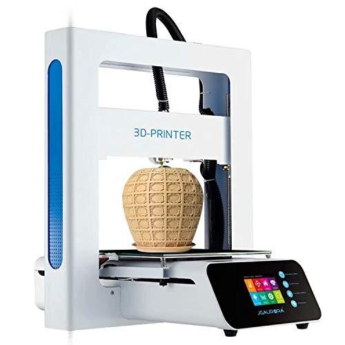 JGAURORA Stampante 3D Touch Screen LCD Mini stampante desktop 3D con piastra di costruzione riscaldata, supporto PLA/Legno/TPU/ABS 3D Filamento, kit stampante 3D fai da te Uso della scuola a casa