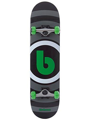 Skateboard Set Completo Birdhouse Target Logo 7.75 Inches Nero-Verde (Default , Nero)