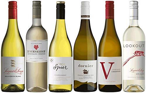 Weinpaket Weißwein aus Südafrika   Probierpaket mit Weinen aus Südafrika (6 x 0.75l)   Trocken und Lieblich   Weine für jeden Geschmack von CAPREO