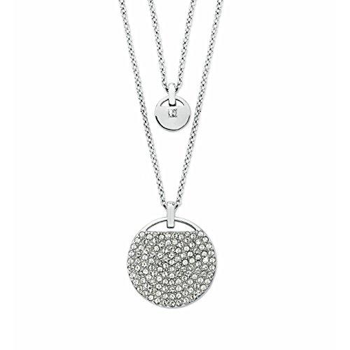 Noelani Damen-Kette doppelreihig mit Anhänger mit Kristallen von Swarovski 42 + 3 cm