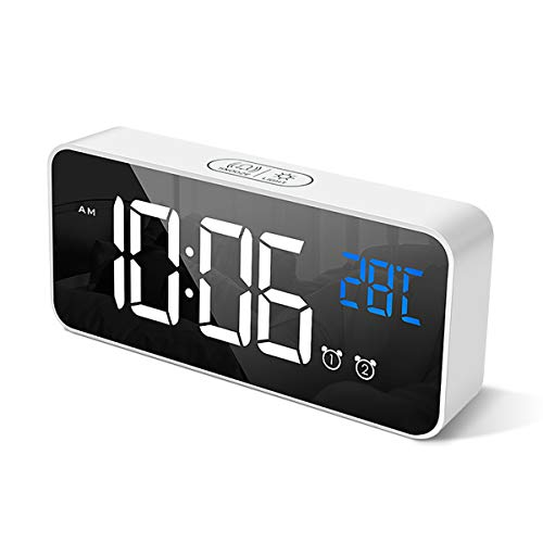 HOMVILLA Reloj Despertador Digital Pantalla LED Temperatura