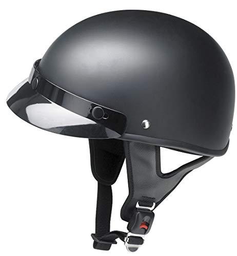 Redbike Braincap Motorradhelm RB 480 mit abnehmbarem Frontschirm matt schwarz ohne ECE M