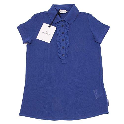 Moncler 7932O Polo Donna Blu Manica Corta t-Shirt Sleeveless Woman [XS]