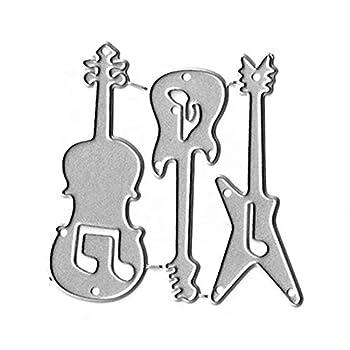 Guitar Metal Dies Cut for Card Making Paper Craft Stencil Album Decorative Metal Cutting Dies
