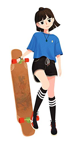 Paint By Numbers Diy By Numbers Gift For Kids Wall Art Crystal Plastic N Anime Skateboard Birthday Wedding Decorations Gifts-No Frame-40X50Cm