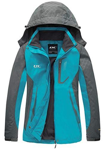 Diamond Candy Womens Rain Jacket Waterproof with Hood Lightweight Hiking Jacket