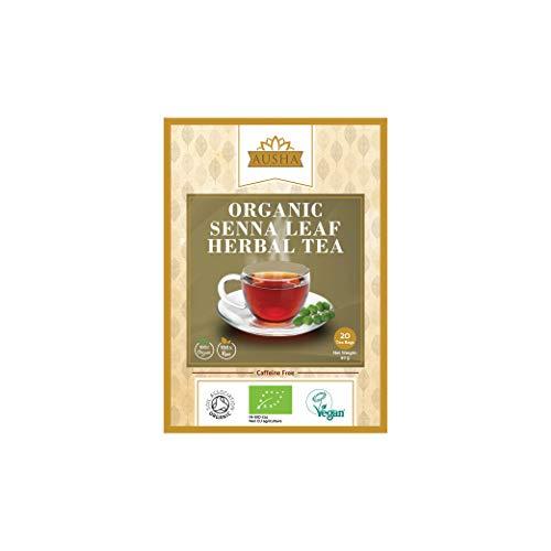 Organic Senna Tea AUSHA - 20 Tea Bags (LaxativeConstipation,Detox,Cleanse,Certified Organic by Soil Association)