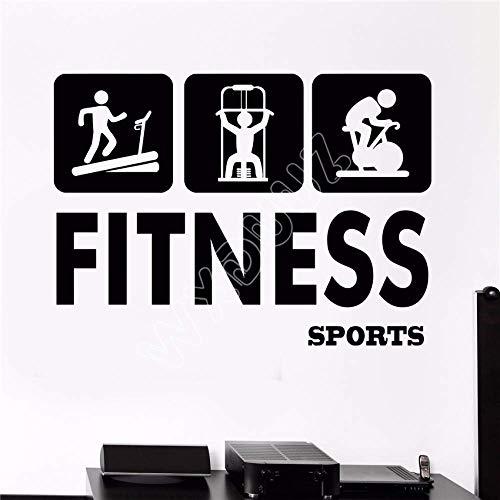 Etiqueta De La Pared Del Vinilo Gimnasio Fitness Deportes Salud Belleza Belleza Letrero Etiqueta De La Pared Decoración Del Hogar Tatuajes De Pared 58X80Cm
