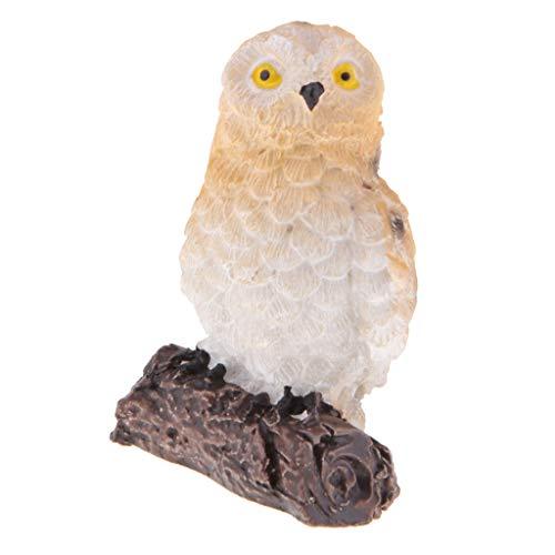 Fenteer Animal de Hibou Décor de Bonsaï Accessoire Ornement Miniature - Brun